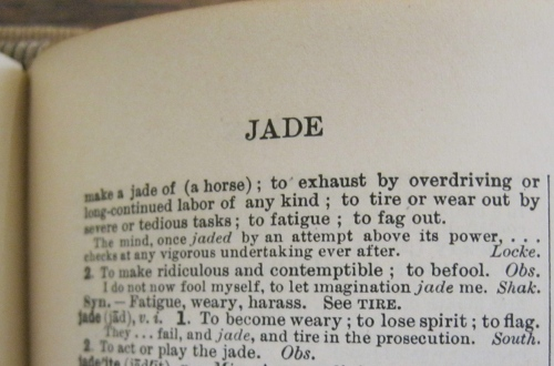 """""""jade"""" from 1913 Webster's"""
