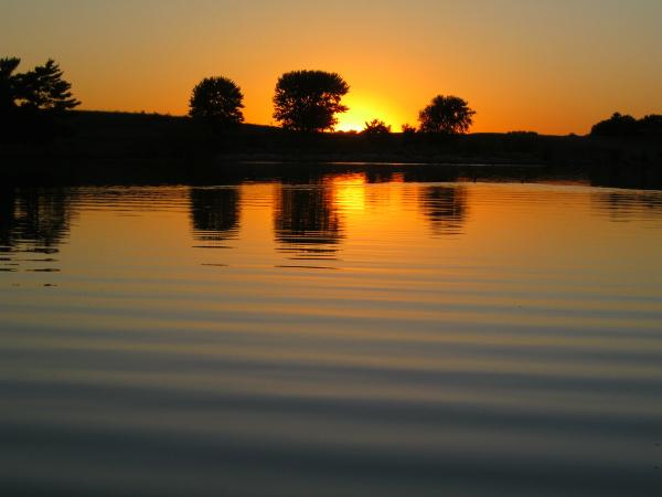 sunset, Holmes Lake, NE