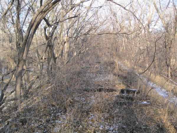 Remains of the Rock Island Railroad grade, Lincoln, Nebraska.