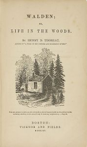 Original title page of Walden featuring a picture drawn by Thoreau's sister Sophia. Via Wikipedia