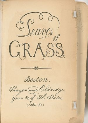 Title page of the edition of Leaves of Grass that Thoreau read. (New York Public Library)