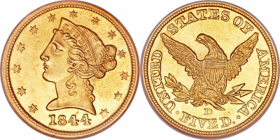 coronet-half-eagle-no-motto-gold