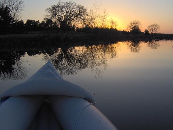 Holmes Lake, Nebraska, at sunset