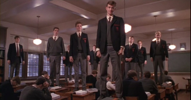A lesson in changing your point of view becomes an act of defiance at the end of Dead Poet's Society.