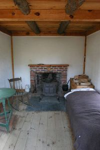 Interior of replica of Thoreau's cabin at Walden Pond. Wikimedia Commons