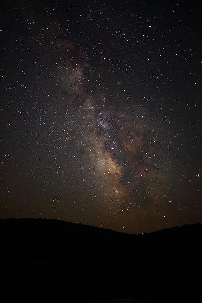Milky Way Galaxy Stars West Virginia Mountain Sky. Wikimedia Commons