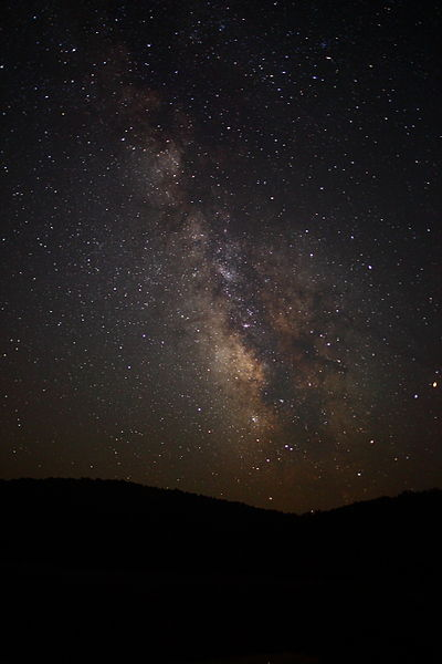 Milky Way Galaxy Stars West Virginia Mountain Sky. Wikimedia Commons