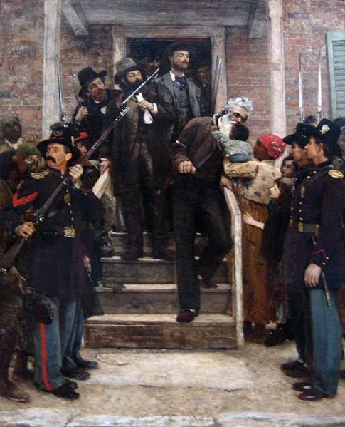 """The Last Moments of John Brown,"" painting by Thomas Hovenden. Brown's raid and execution further polarized the nation, pushing it closer to civil war. Wikimedia Commons"